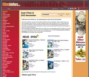 Filminfos.de - ist eine Film- & DVD-Datenbank