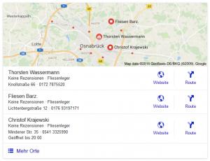 Google Suche: Fliesenleger Osnabrück