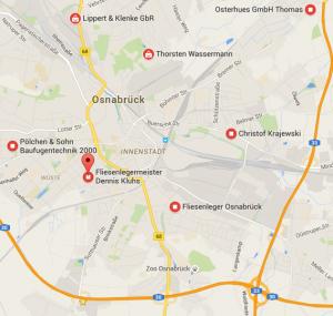 Google Maps Suche nach: Fliesenleger in Osnabrück
